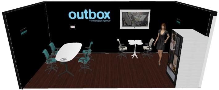 standul Outbox mobilat de Hansen la IMW 2012
