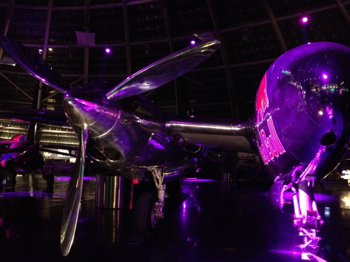 Red Bull plane inside Hangar 7