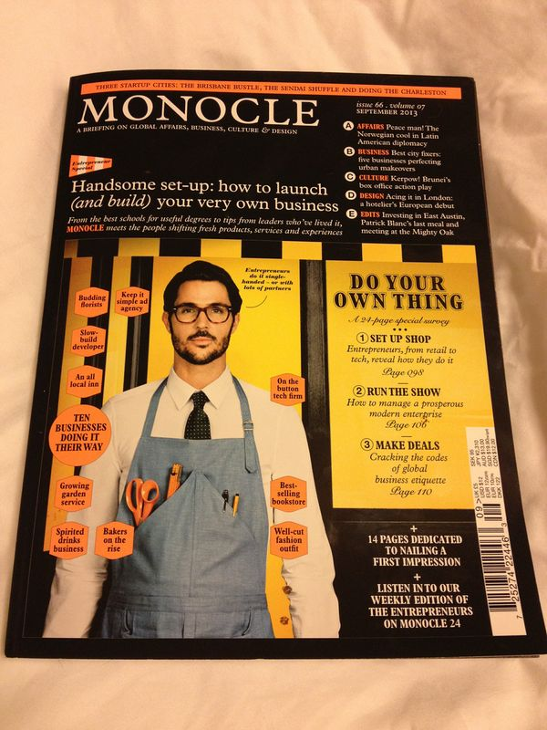 Monocle - issue 66 dedicated to Entrepreneurship