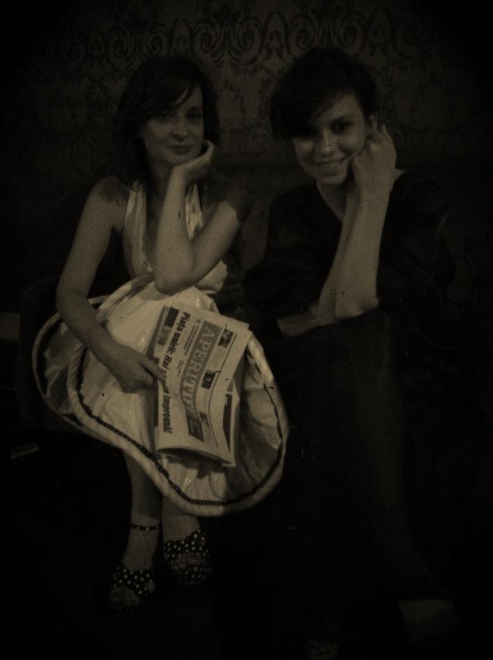 Flavia si Diana la finalul galei TIFF iunie 2012 la Teatrul National din Cluj